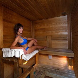 Sauna at hotel Rocca Al Mare
